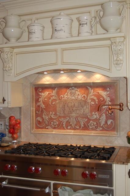 hand painted kitchen backsplash mediterranean kitchen boston donna kitchen backsplash design hand painted tiles