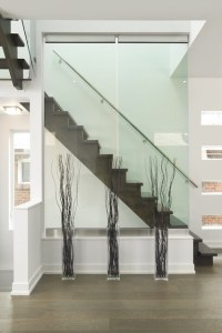 Modern, open stairs