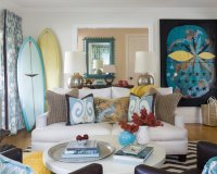 Beach Cottage Living Room Design Ideas, Pictures, Remodel ...