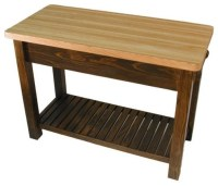 Caney Creek Prep Table with Butcher Block Top - Modern ...