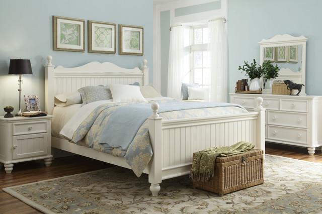 Nice Off White King Bedroom Set Varnished