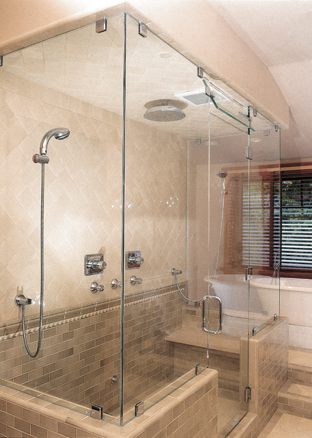 Houzz Showers Frameless Shower Doors - Traditional - Shower Doors - Boise