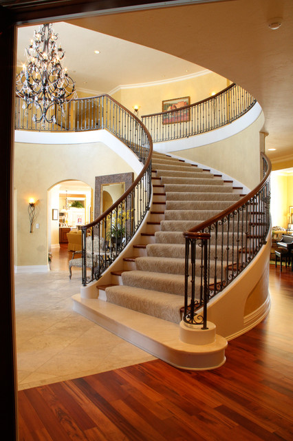 Staircase Hanging Lights The Regency Cedar Bend Model - Traditional - Staircase