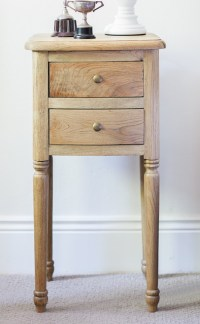 Small Oak Bedside Table - Traditional - Nightstands And ...