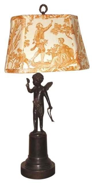 Angel Spelter Lamp