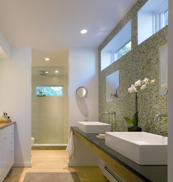 Contemporary vermont farm house farmhouse bathroom
