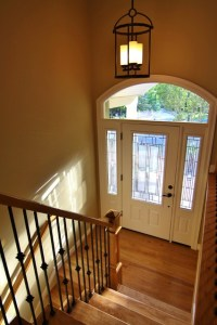 Beautiful new stairway and entry - Traditional - Entry ...