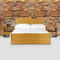 New Bedroom Wall - Reclaimed Mosaic Wood Tiles - Modern ...
