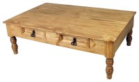 Mexican Rustic Pine Coffee Table - Traditional - Coffee ...