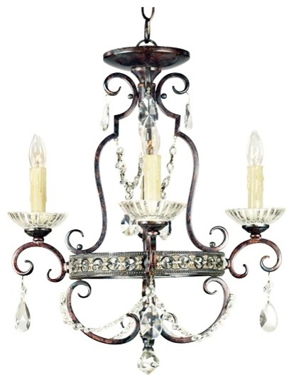 Tivoli Track Lighting Traditional Tivoli Royal Crystal Four Light Mini