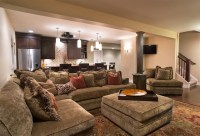 Cozy Home Theater - Traditional - Basement - other metro ...