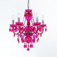 5-Light Chandelier, Hot Pink - Contemporary - Chandeliers ...