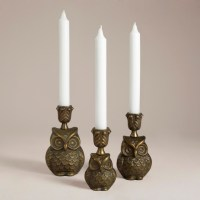 Owl Metal Candleholder Collection - Eclectic ...