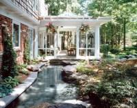 Outdoor Living Room & Lagoon