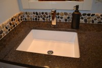 Pebble Mosaic Backsplash - Modern - Bathroom Vanities And ...