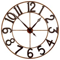 Large Numbers Wall Clock - Eclectic - Wall Clocks ...