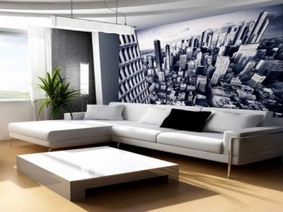 Wall Decor Ideas for Living Room With Mega City Themes - Modern - Wallpaper - sydney - by BannerBuzz