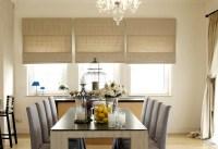 Roman Shade   Modern Dining Room   Off-White   Modern ...