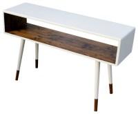 Midcentury Sofa Table, Dipped Poplar Wood by OrWa Designs ...