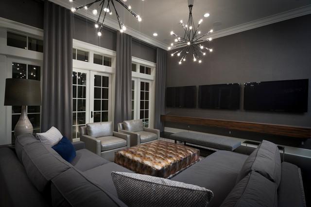 Hgtv Small Media Rooms Tv Over Fireplace