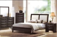 Acme Furniture - Torino Bycast Leather Black White Queen ...