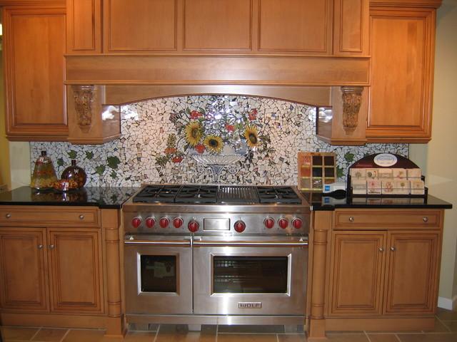 custom hand painted mosaic backsplash traditional kitchen kitchen backsplash colorful painted diy kitchen backsplash kitchen
