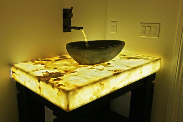 Contemporary bathroom denver by yk stone center inc