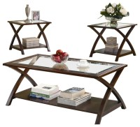 Coaster 3 Piece Occasional Table Sets Coffee and End Table ...