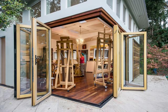 artist studio modern home office san francisco