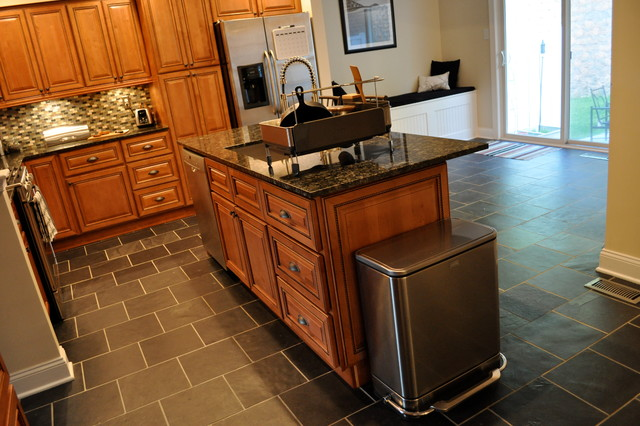 Kitchen Center Island Cabinets Marquis Cinnamon Kitchen With Center Island - Traditional