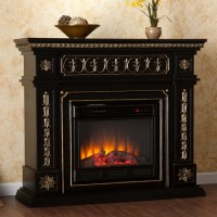 Alessia Black Electric Fireplace - Victorian - Indoor ...
