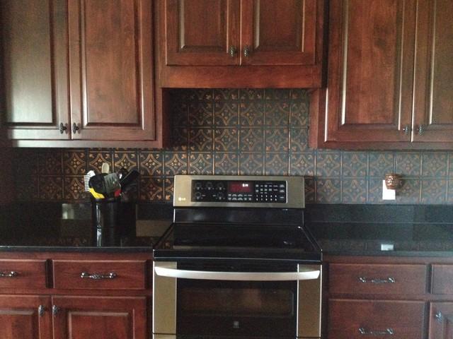tin ceiling tile installed traditional kitchen metro faux tin kitchen backsplash tips build tin kitchen backsplash