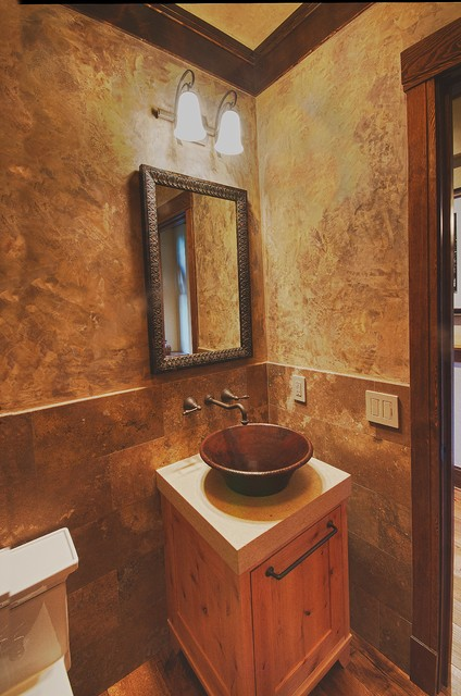 Ideas For Bathroom Remodels Rustic Contemporary Remodel - Rustic - Powder Room - Other