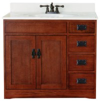 mission style bathroom vanities - 28 images - mission ...