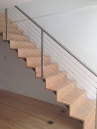 Cable railing and custom interior staircase - Contemporary ...