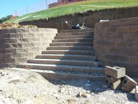 Pond and Retaining Wall Construction - Landscaping Stones ...