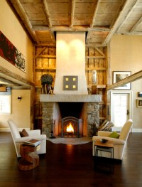 Greek Revival Farmhouse - Rustic - Living Room - boston ...