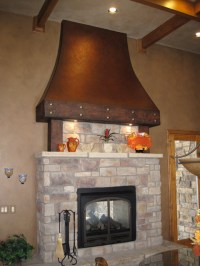 Faux aged copper fireplace hood - Traditional - Kitchen ...