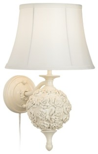 Country - Cottage Wakefield Roses White Plug-In Wall Lamp ...
