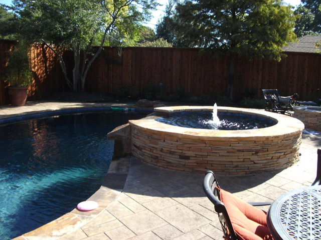 Pool Renovation with new Hot Tub, Fire Pit and Cabana Bar