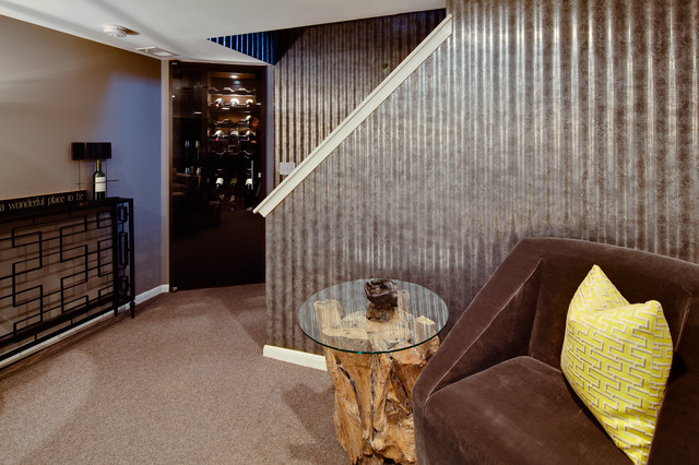 industrial style basement design