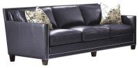 Steve Silver Hendrix Sofa w/2 Accent Pillows in Navy Blue ...
