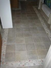 Bathroom Floor Tile Border - Beach Style - Bathroom ...