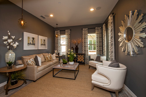 Mixing Brown \ Black, Beige \ Gray in Design \ Decor - gray and beige living room