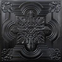 206 Faux Tin Ceiling Tile 24x24 - Black - Ceiling Tile ...