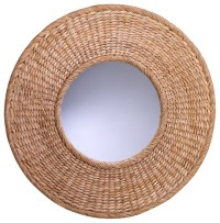Seagrass Round Wall Mirror - Transitional - Wall Mirrors ...