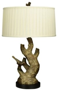 Country - Cottage Tree Branch Table Lamp with Bird ...