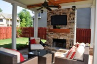 Smyrna - Outdoor Living Room and Fireplace - Traditional ...