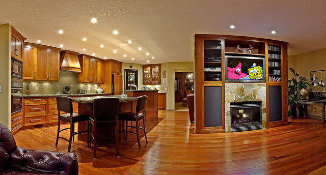 Kitchen Cabinets And Wood Flooring Ideas Brazilian Cherry In Kitchen - Contemporary - Kitchen