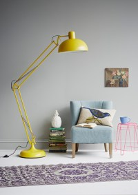 Yellow Angle Poise Floor Lamp - Eclectic - Living Room ...